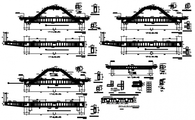 Steel structural elevation detail dwg file