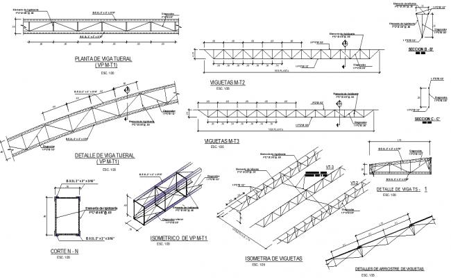 Steel structural framing detail dwg file