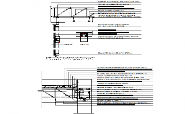 Steel structure detail dwg file