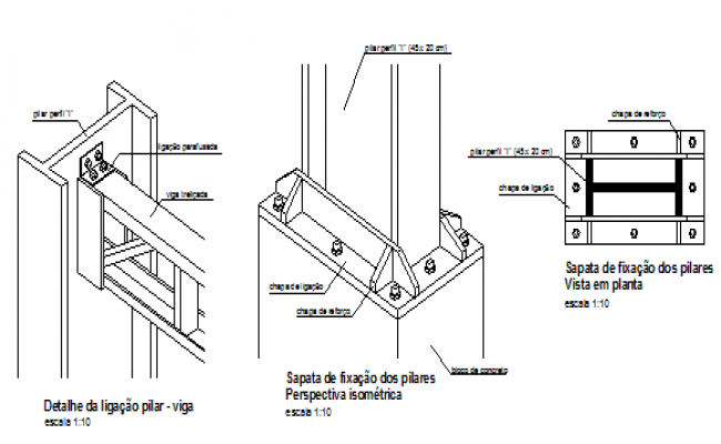 Structural Steel Connections Dwg : Steel structure detail of connection beam column drawing