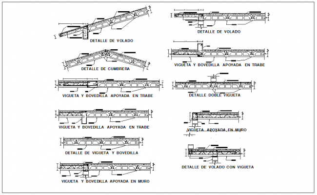 Steel structure of beam and column section view detail dwg file