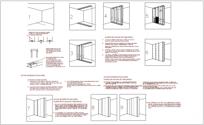 Steel structure view with different joint for office design dwg file