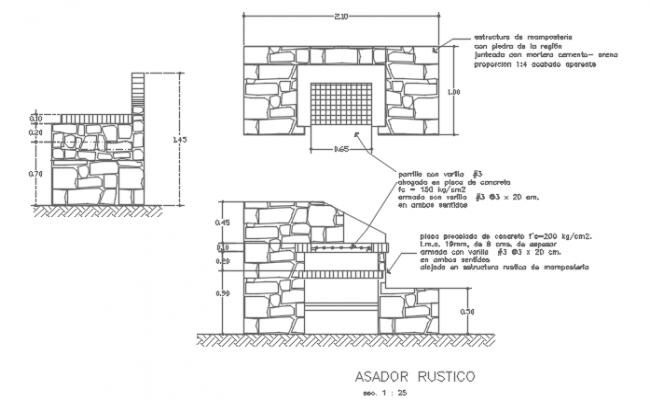 Stone Masonry Wall CAD File
