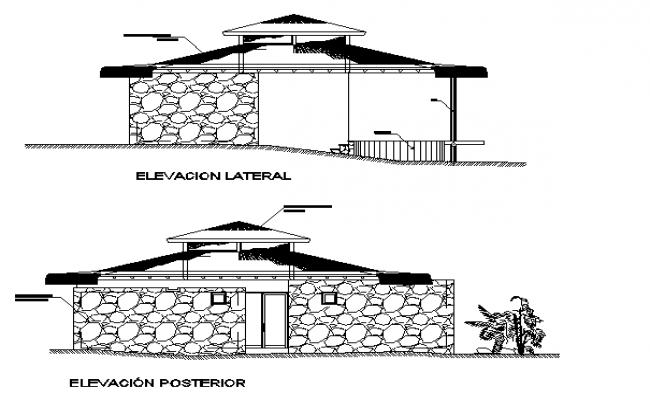 Stone cladding elevation details
