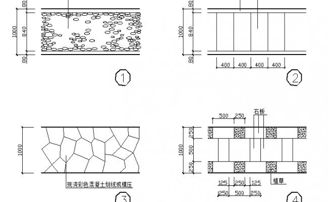 Stone type detailing parkway