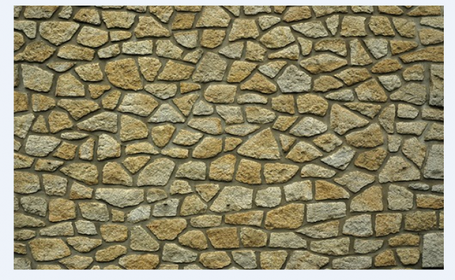 Stone wall design drawing