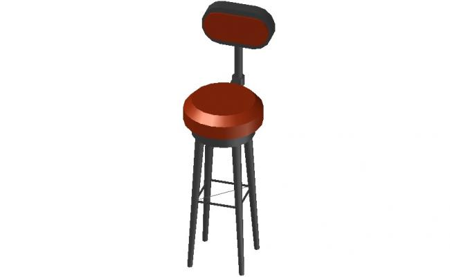 Stool Design CAD Furniture Blocks 3d model