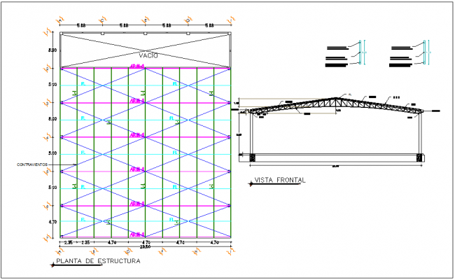 Storage Warehouse Structure Dwg File