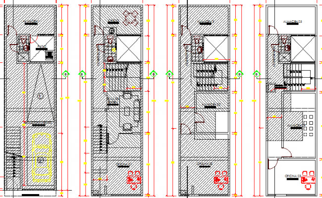 Store Building Architecture Layout and Design dwg file
