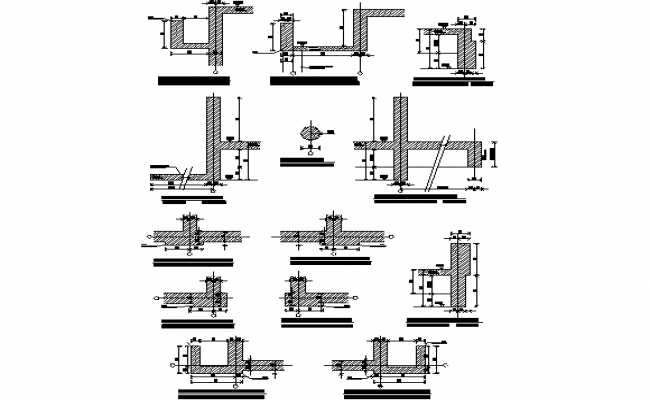Storey building construction detail sections