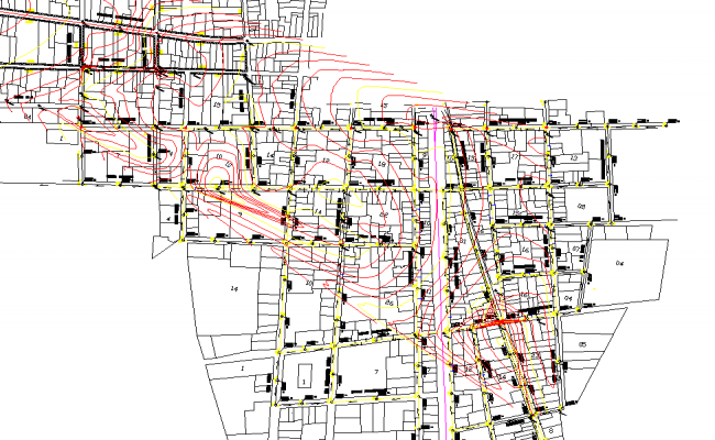 Storm water drainage layout file