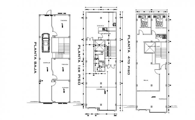 Story House Details In DWG File