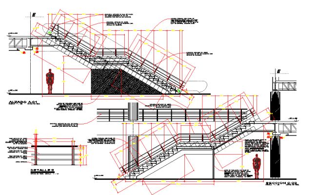 Straight Stair Elevation Detail
