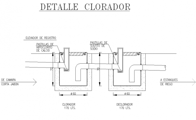 Strainer plan detail dwg file