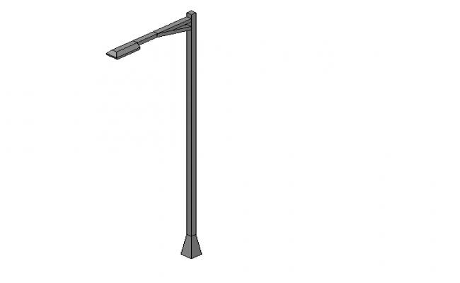 Street lamp post 3d file