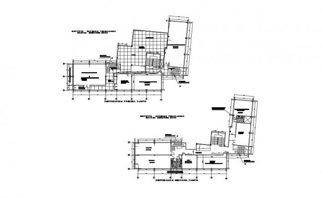 Structural Plan Of Building In DWG File