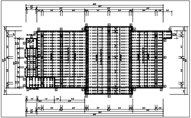 Structural Roof plan detail with roof projection plan view detail dwg file
