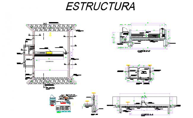 Structural Uptake system design autocad file