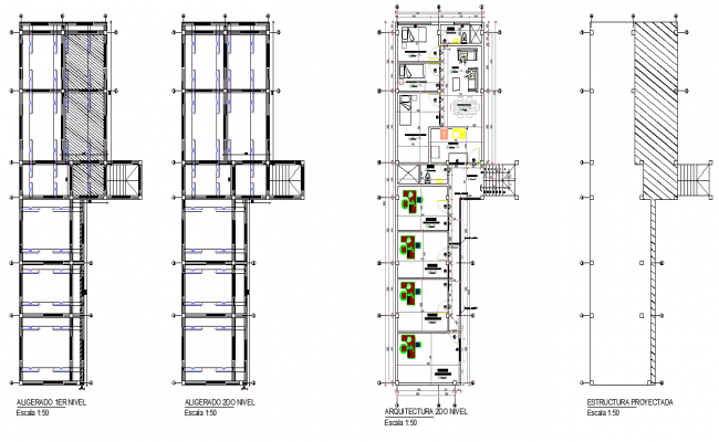 Structural beam plan layout file