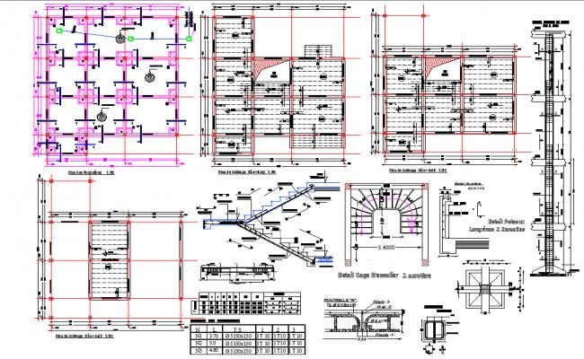 Structural building plan autocad file