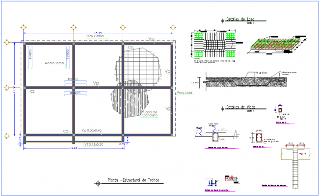 Structural design of ceiling plan for office dwg file