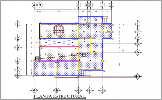 Structural design view of dairy plant plan dwg file