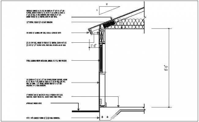 Structural design view with column and truss view dwg file
