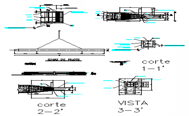 Structural detail drawing of Piles design drawing