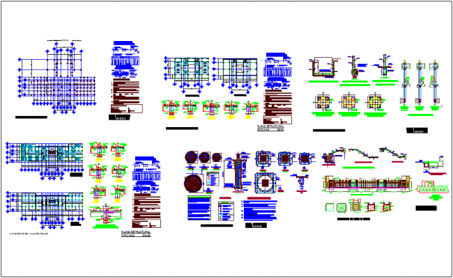 Structural detail with column and structural detail dwg file