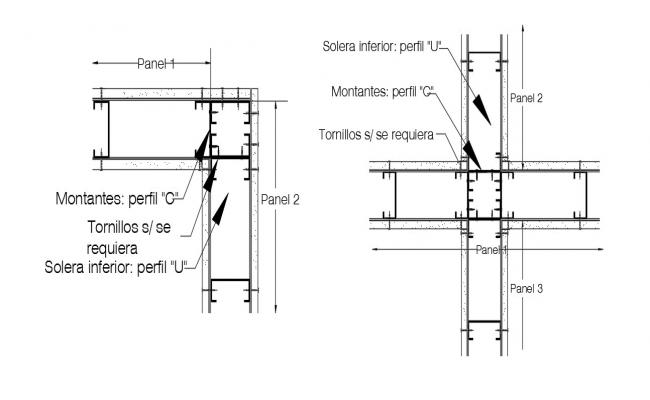 Structural joints detail autocad drawings