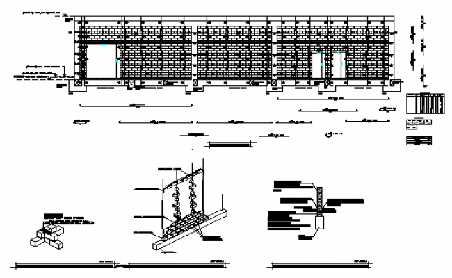Structural masonry design drawing
