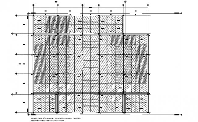 Structural plan detail dwg file