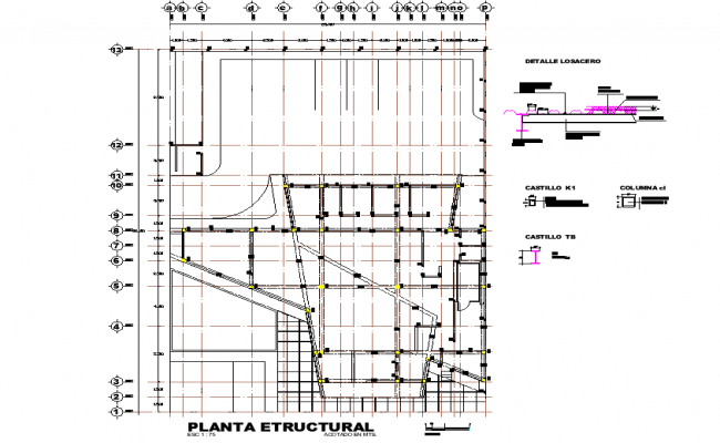 Structural plan detail dwg file