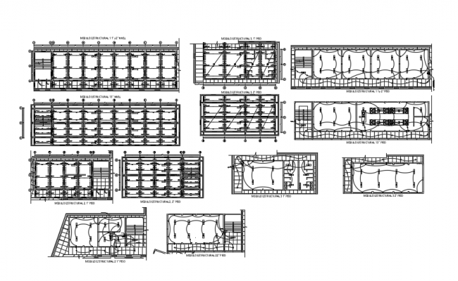 Building Structural plan AutoCAD drawings
