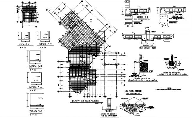 Structural roof detail dwg file