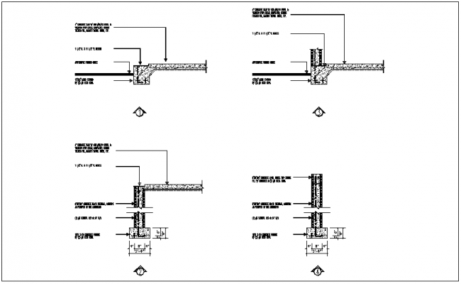 Structural view of footing and slab dwg file