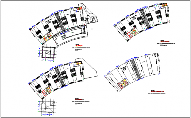 Structural view of vape hotel dwg file
