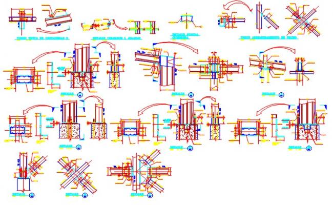 Structural Working Drawings In DWG File