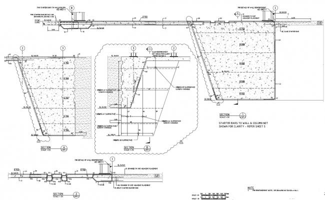 Structure Beam Column Joint Drawing PDF File