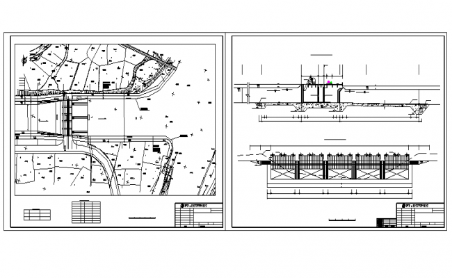 Structure Beam Detail & Urban Plan Lay-out