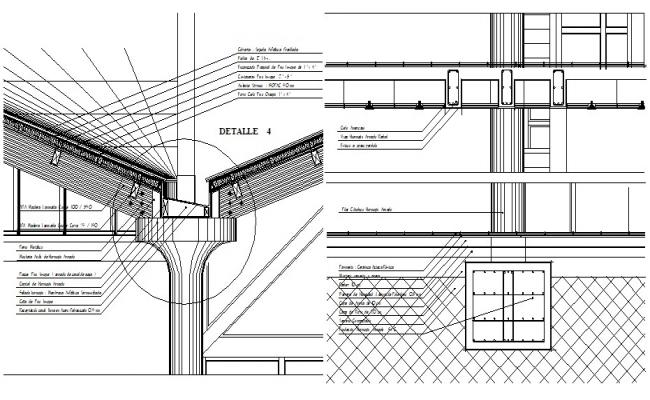 Structure Cross Section Drawing CAD file