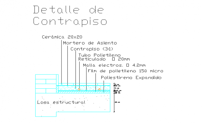 Structure Detail in drawing file