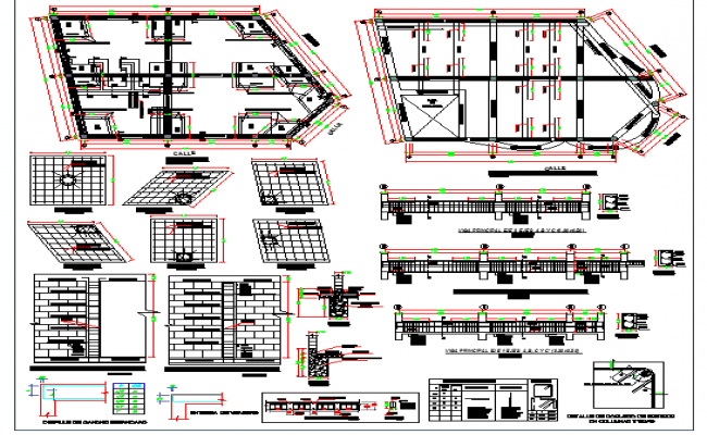 Structure Details of Housing Project dwg file