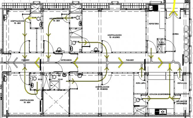Structure Details of Treatment Pavilion Center dwg file