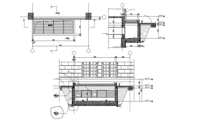 Structure RCC Wall design AutoCAD File Free Download