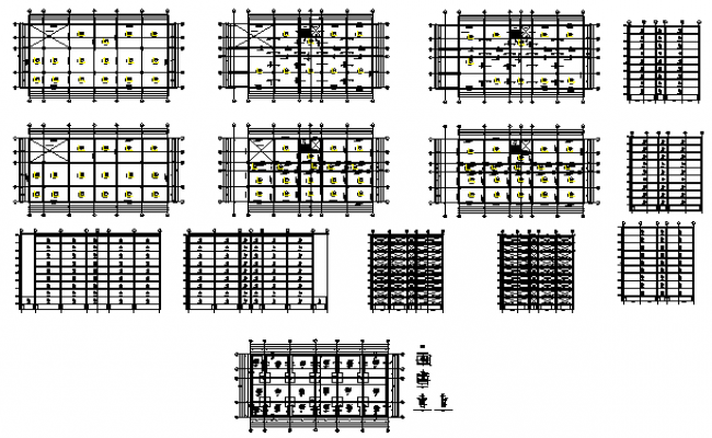 Structure design drawing of building design drawing