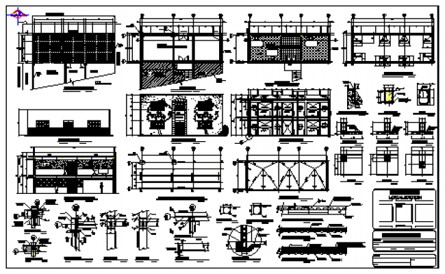 Structure design of cafe building