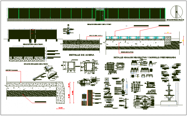 Structure detail and section plan view dwg file