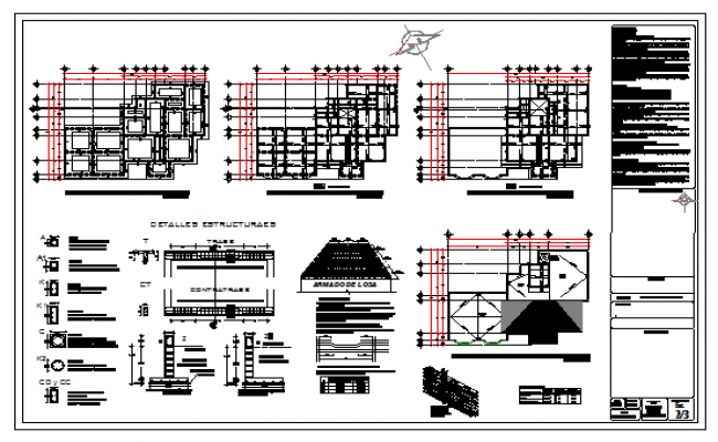 Structure detail design drawing of Residential house design