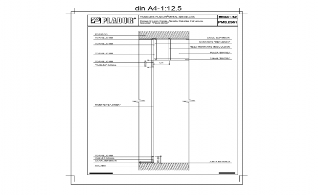Structure detail elevation 2d view autocad file